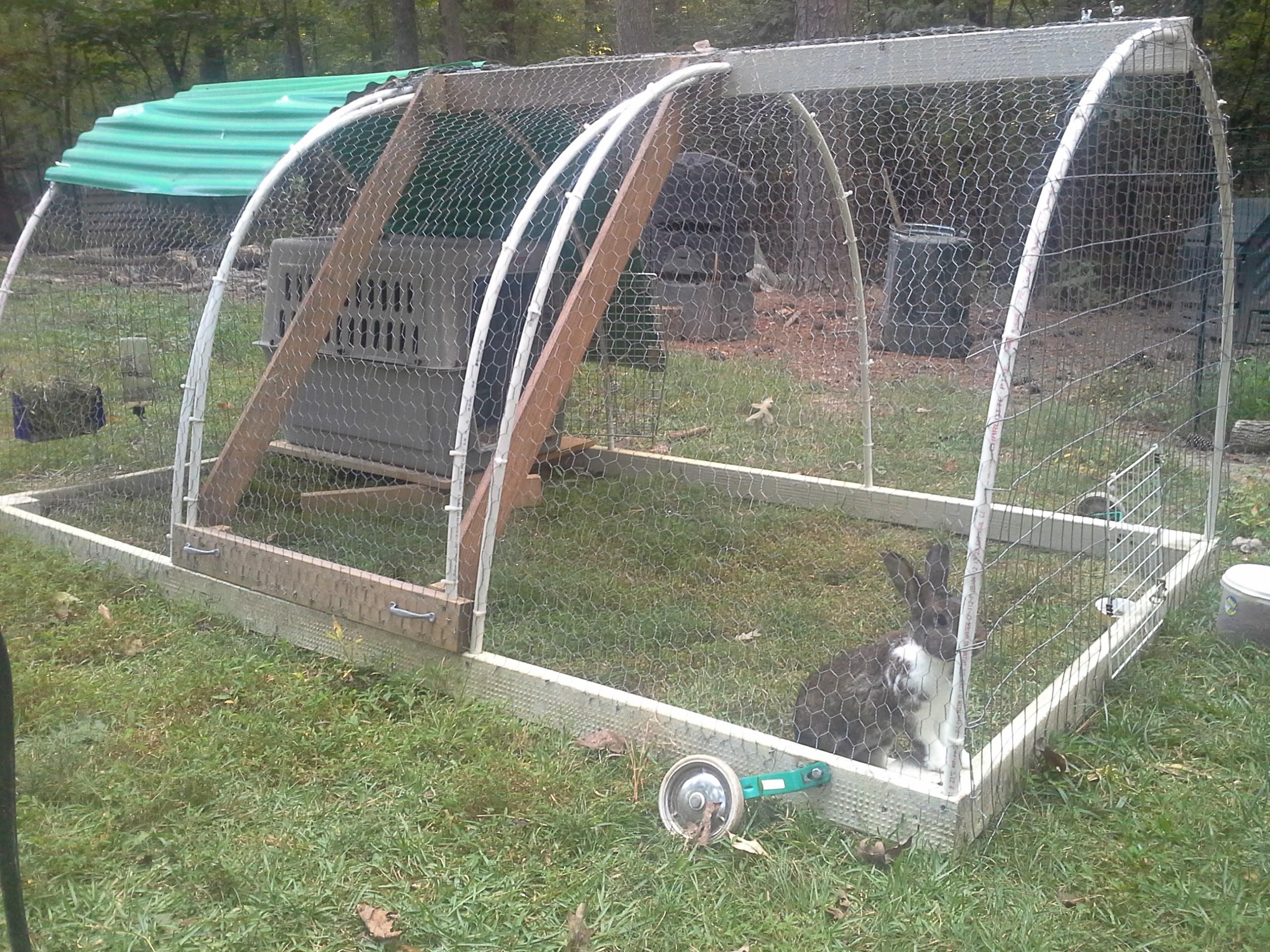Rabbit tractor designs homesteading forum for Pvc rabbit cage